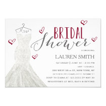 Modern Bride Burgundy | Bridal Shower Invitation