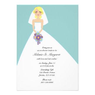 modern bride custom BRIDAL SHOWER invitation