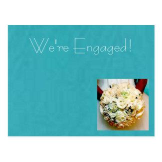 Modern Bride-Engagement Announcement Postcard