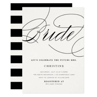 Modern Bride Future Mrs. Bridal Shower Invitation