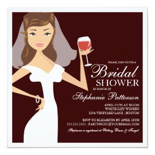 Wine themed bridal shower invitations zazzle modern bride wine theme bridal shower invitation filmwisefo