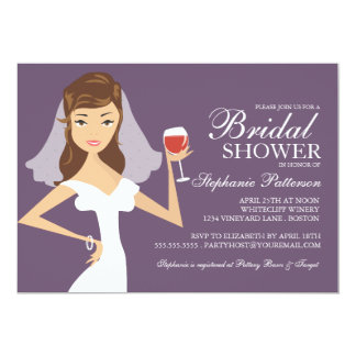 bridal shower wine theme invitations  announcements  zazzle, Bridal shower invitations