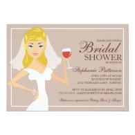 Modern Bride Wine Theme Bridal Shower Invitation 5
