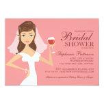 "Modern Bride Wine Theme Bridal Shower Invitation 5"" X 7"" Invitation Card"