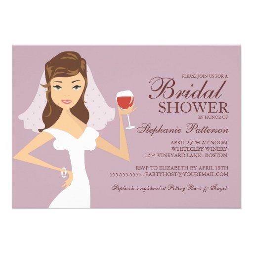 700 wine bridal shower invitations wine bridal shower for Themed bridal shower invitations