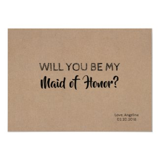 Modern Bridesmaid / Maid of Honor Proposal Invitation