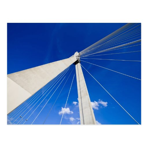 Modern Bridge Abstract Shape Post Cards