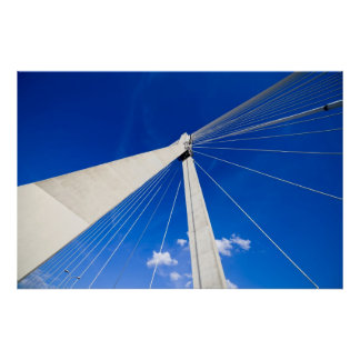 Modern Bridge Abstract Shape Poster