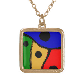 Modern bright Abstract shapes Necklace