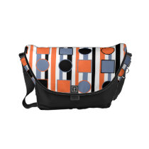 Modern bright abstract shapes pattern obgb small messenger bag