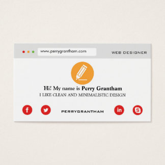 Modern Bright Business Card template