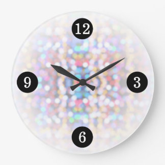 Modern Bright Colorful Lights Large Clock