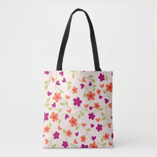 Modern Bright Floral Travel Gear Tote Bag