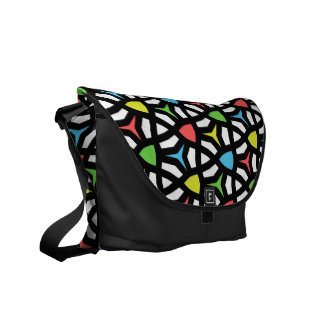 Modern Bright Geometrical Pattern in contemporary Courier Bag