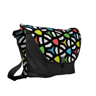 Modern Bright Geometrical Pattern in contemporary Messenger Bag