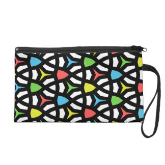 Modern Bright Geometrical Pattern in contemporary Wristlet