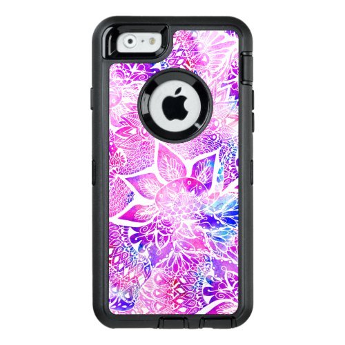 Modern bright henna boho floral mandala pattern Phone Case