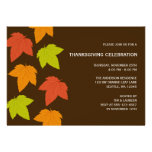 Modern Bright Leaves Thanksgiving Invitations