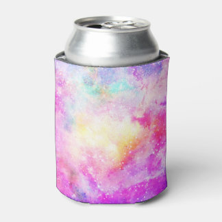 Modern bright pastel nebula watercolor can cooler