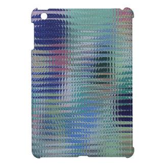 Modern Bright Shiny Textured Metal Look Glass Tile Case For The iPad Mini
