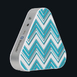 """Modern Bright Turquoise Chevron Pattern Bluetooth Speaker<br><div class=""""desc"""">If you would like in a different color combination, please contact us through our Chic Pattern store and we will be happy to create the design for you. A modern chevron zigzag pattern in bright turquoise and white. The chevron lines have a shadow effect which creates an interesting printed visual...</div>"""