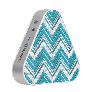 Modern Bright Turquoise Chevron Pattern Bluetooth Speaker