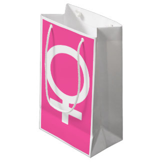 Modern Brilliant Rose Venus Symbol Small Gift Bag