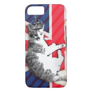 modern british flag  union jack funny cat iPhone 8/7 case