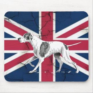 modern british flag  union jack london hunting dog mouse pad