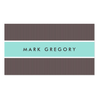 Modern brown and aqua blue professional profile business card template