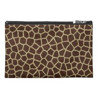 Modern Brown Beige Giraffe Animal Geometric Print Travel Accessories Bags