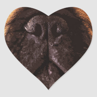 modern brown big French Bulldog Heart Sticker