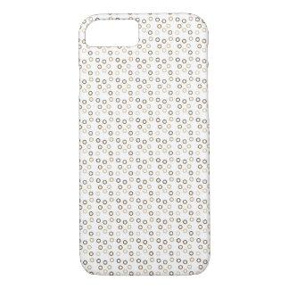 Modern Brown Circles iPhone 8/7 Case