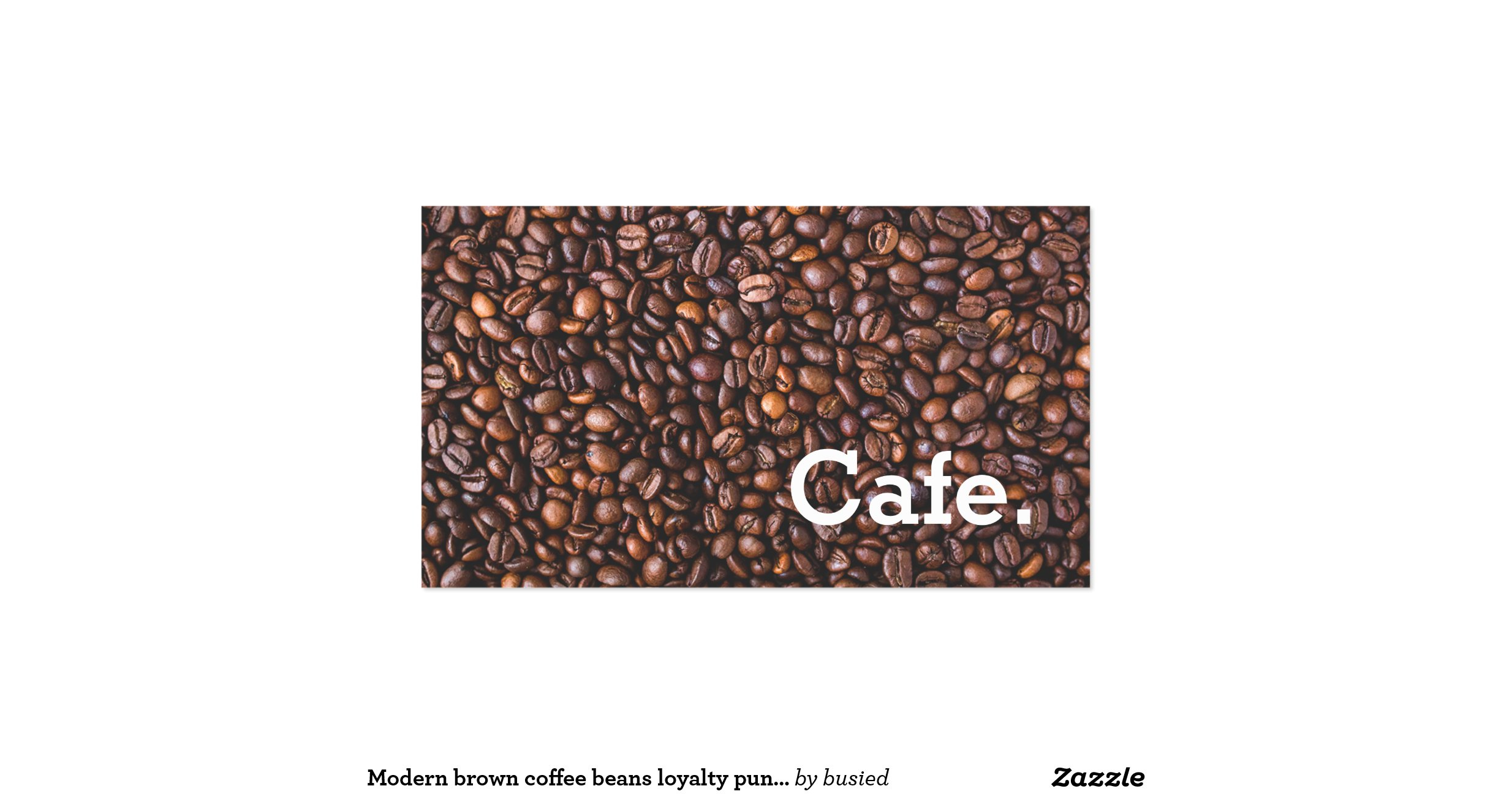Modernbrowncoffeebeansloyaltypunchcardcafedouble
