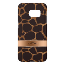 Modern Brown & Copper Leopard Print Samsung Galaxy S7 Case