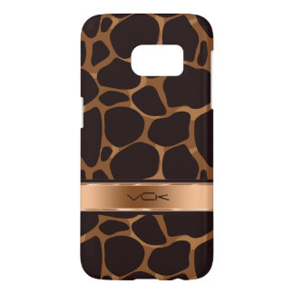 Modern Brown & Copper Leopard Print Samsung Galaxy S7 Case