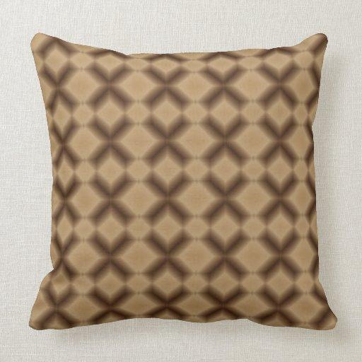 Decorative Pillows Chocolate Brown : Modern Brown Diamond Pattern Throw Pillow Zazzle