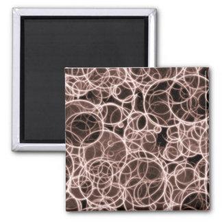 Modern Brown Pattern Square Magnet