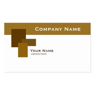 modern brown rectangle business card