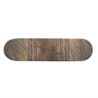 modern Brown rustic woodgrain oak Skateboard Decks