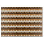 Modern Brown Wavy Stripes Pattern Cutting Board