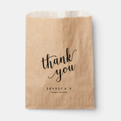 Modern Brush Lettered Thank You Goodie Bag