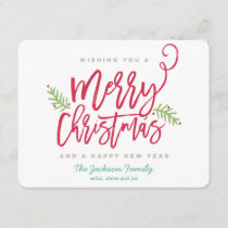 Modern Brush Script Bright Christmas Holiday