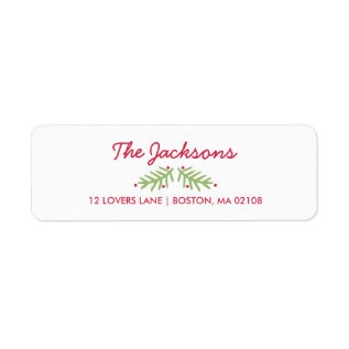 Modern Brush Script Bright Christmas Label at Zazzle
