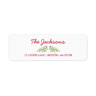 Modern Brush Script Bright Christmas Label