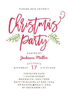 modern christmas invitations zazzle