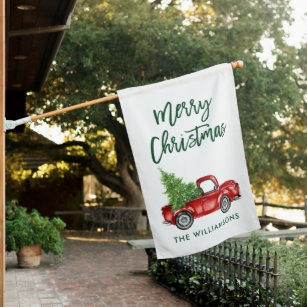 Vintage Christmas Outdoor Signs Flags