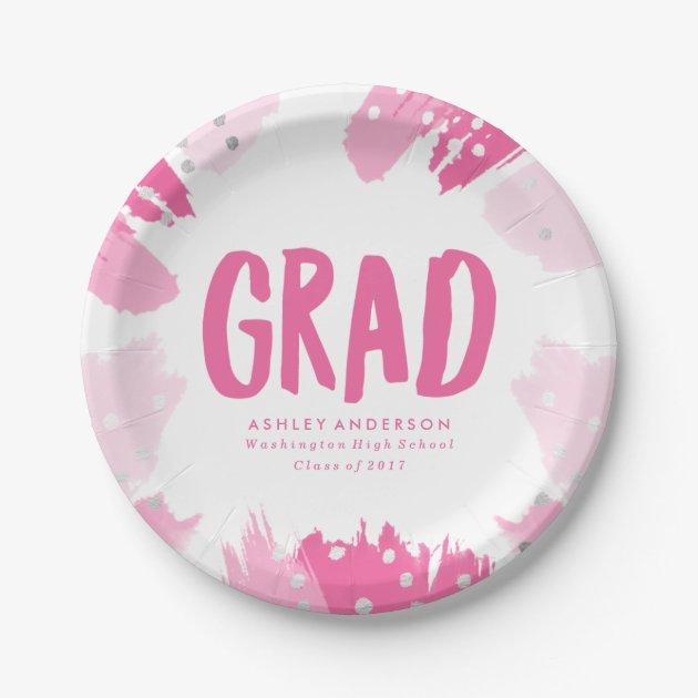 Modern Brush Strokes | Graduation Paper Plate  sc 1 st  Custom Invitations Cards u0026 Stationery | Mimoprints & 115+ Customizable Graduation Party Paper Plates | Mimoprints