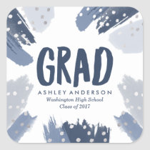 Modern Brush Strokes | Graduation Stickers