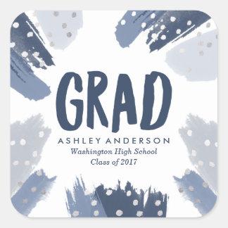 Modern Brush Strokes   Graduation Stickers